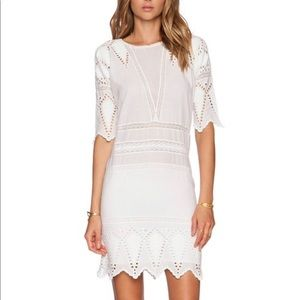 Ulla Johnson Lupe Eyelet Dress in Pristine